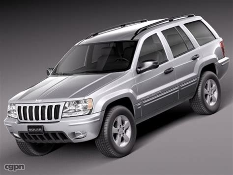 jeep models 2005 jeep grand cherokee 1999 to 2005 3d model cgstudio