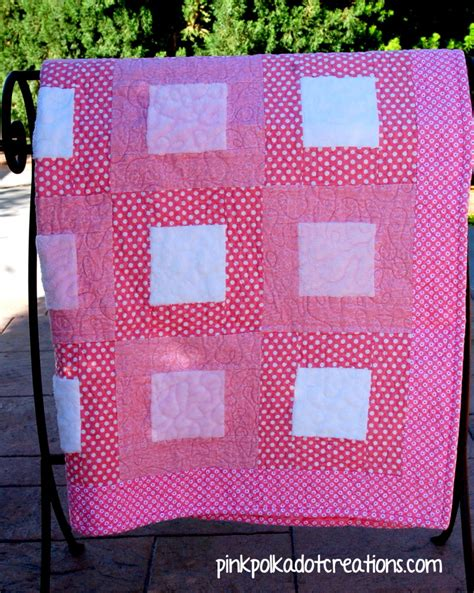Pink Polka Dot Quilt by Pink Baby Quilt Pink Polka Dot Creations