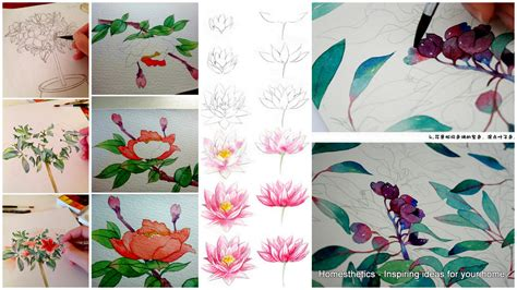 watercolor tutorial step by step 20 delicate colorful watercolor flowers painting tutorials