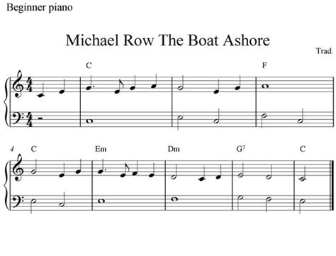 michael row your boat ashore meaning 10 best piano sheet music images on pinterest piano