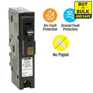 Home Lighting Circuit Design Shop Square D Homeline 20 Amp 1 Pole Dual Function Afci