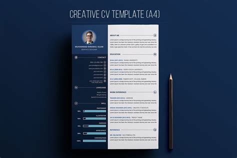 Free Creative Resume by Free Creative Resume Psd Template Creativetacos