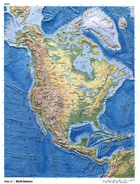 america relief map maps of america and american countries
