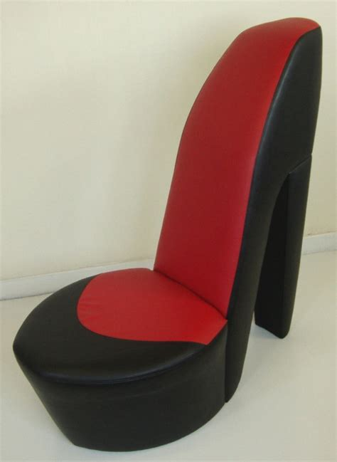 Stiletto Shoe Chairs Black Amp Red Shoe High Heel Stiletto Chair