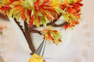 Fall Decorated Trees - autumn leaves in chocolate blog tutorial my cake
