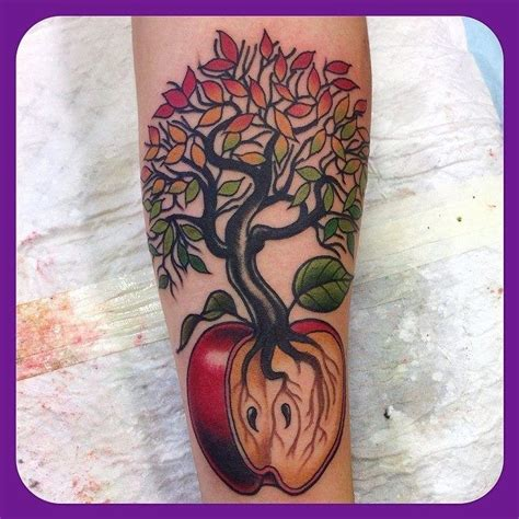 apple tree tattoo designs apple tree trees