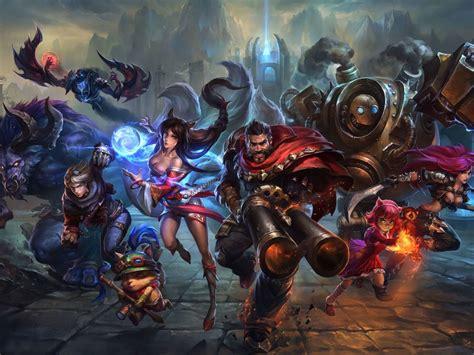 league  legends video game heroes art wallpaper hd