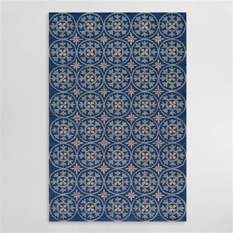 market rugs blue pagoda indoor outdoor area rug world market