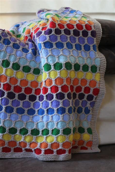 honeycomb knitting pattern knitting baby stuff rainbow honeycomb blanket