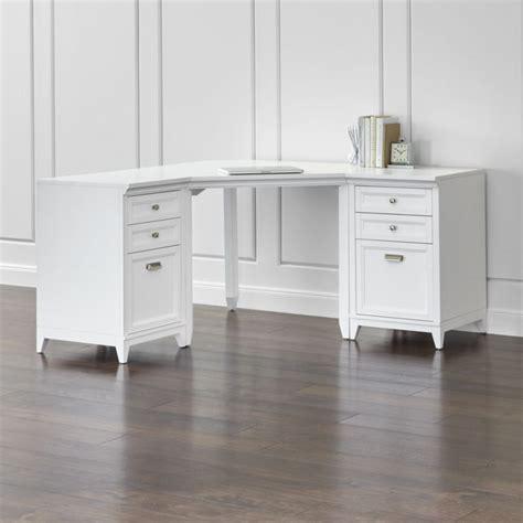 crate and barrel white desk harrison 3 white corner desk filing suite crate