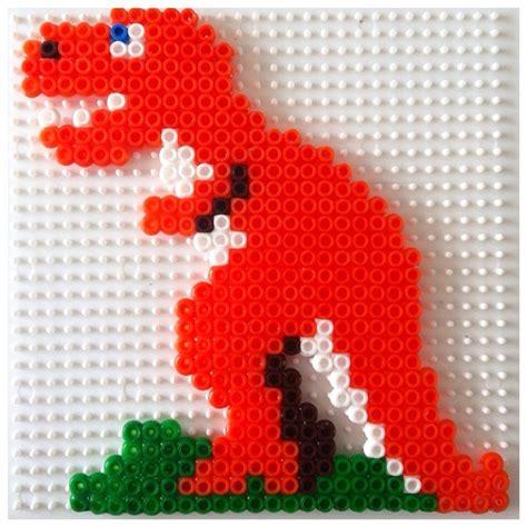 perler dinosaur t rex dinosaur hama by elenailyina78 dino