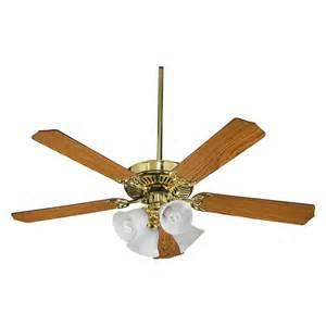 Quorum Ceiling Fans Parts Quorum 4 Light Polished Brass Ceiling Fan 77525