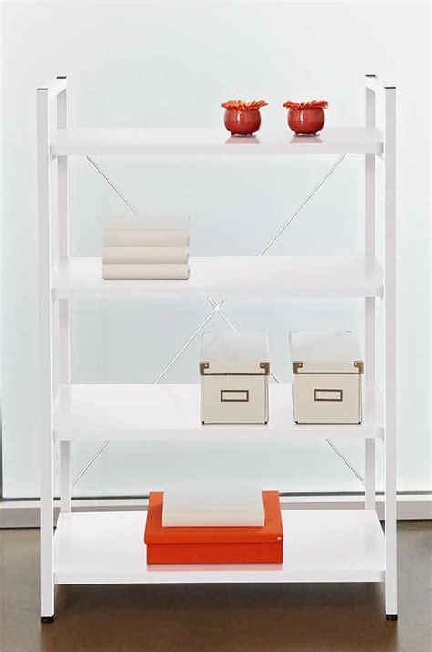 White Metal Frame Bookcase By Unique Furniture 213 White Metal Bookcase