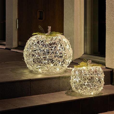 outdoor light up pumpkins konstsmide 3509 102 led light up pumpkins internet gardener