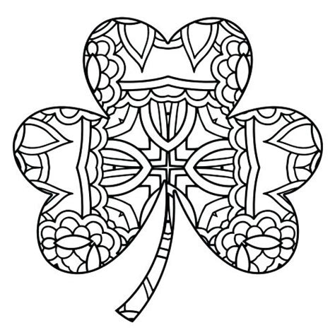 Clover Leaf Coloring Page