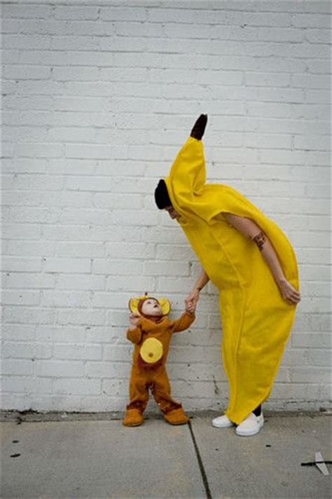 Baby Monkey Banana Suit monkey kid and banana parent costume duo fruit best