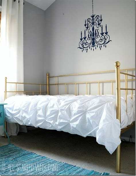 spray painting metal bed frame one simple upgrade to this bed made it look amazing
