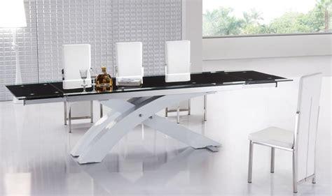 extendable glass top modern furniture table set modern