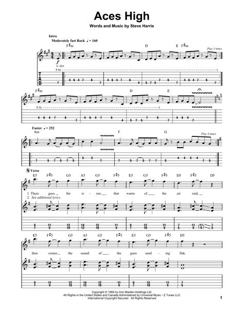 Aces High | Sheet Music Direct