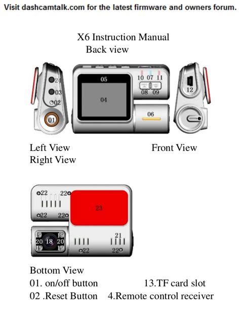 Home Design App Instructions by Dual Lens 720p Hd Dvr X6 I1000 F70 Dvr Dash Cam User Manual