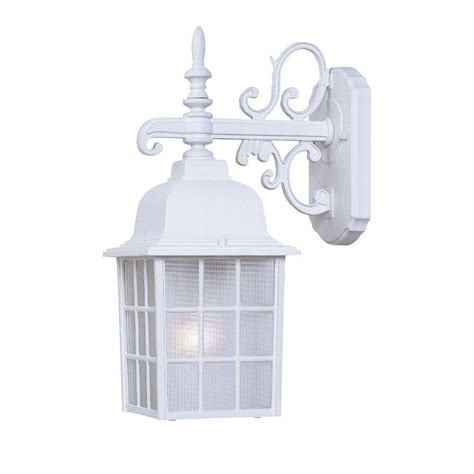white outdoor lighting fixtures acclaim lighting collection 1 light textured white