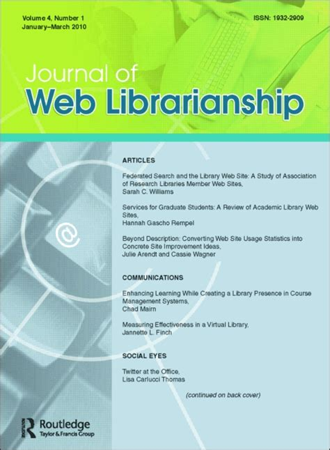call for papers taylor francis journal of web librarianship call for papers explore