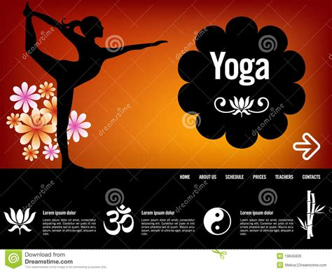 ppt templates free download yoga yoga website template stock vector illustration of flower
