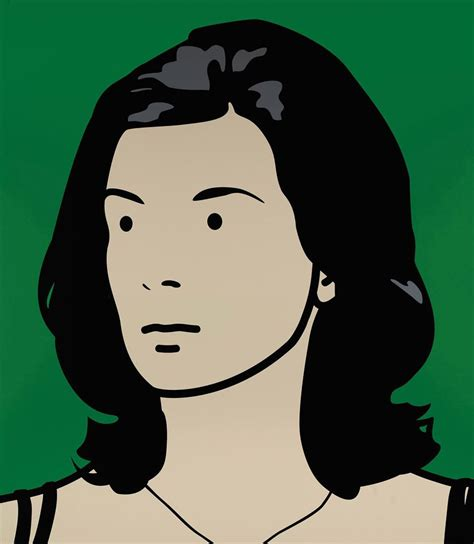 julian opie julian opie b 1958 christine receptionist hair down