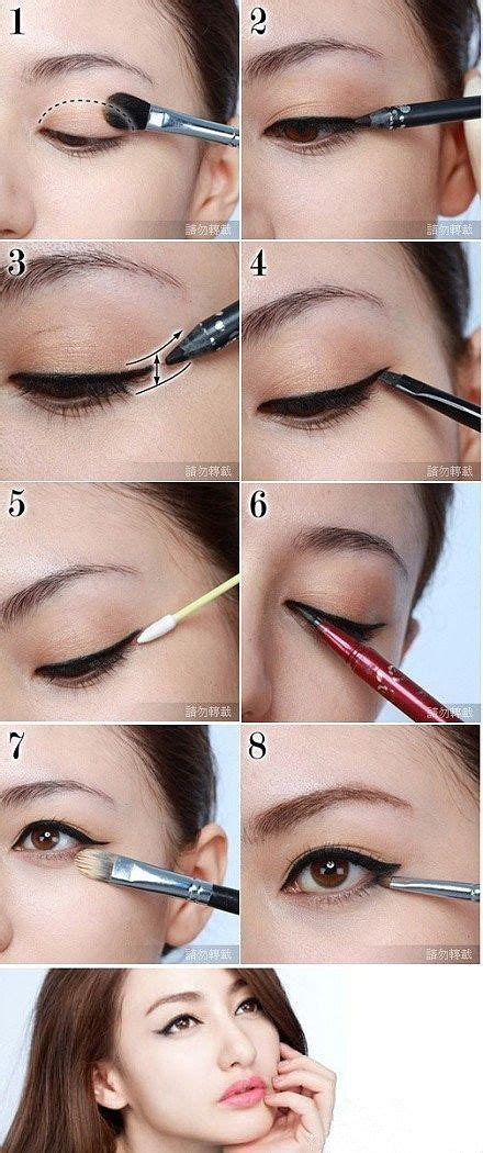 winged eyeliner tutorial asian 343 best images about ulzzang makeup tutorial and