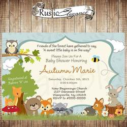 printable forest themed baby shower invitation woodland baby animal baby shower invitation