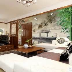 art wall stickers home decor high end waterproof bamboo embossing wallpaper abstract 3d chinese