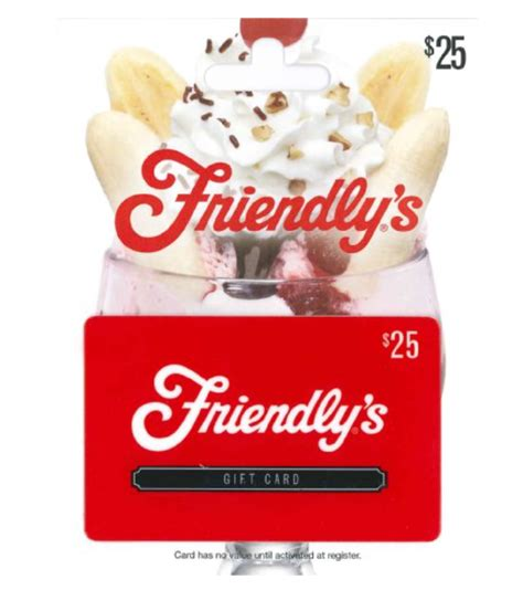 hot 50 friendly s gift card for 40 - Friendlys Gift Card