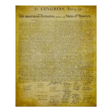 printable version of declaration of independence declaration of independence print zazzle