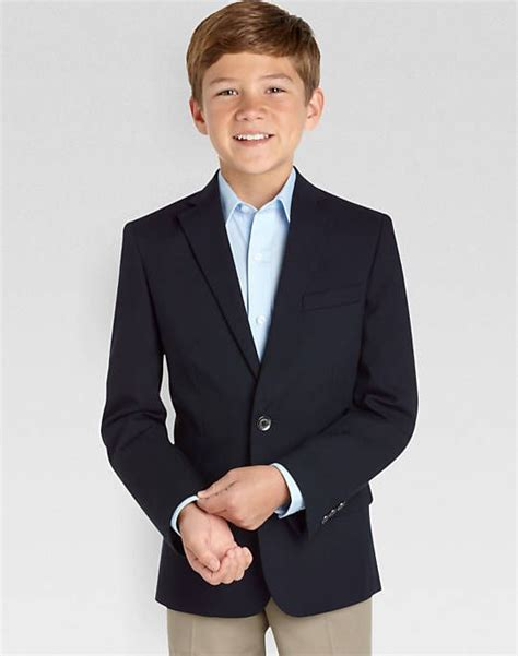 wedding attire for 13 year boy calvin klein boys navy husky fit blazer boy s blazers