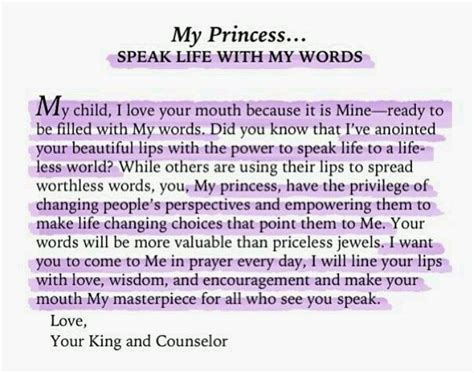 thank you letter to my daughters quotes god s princess quotesgram