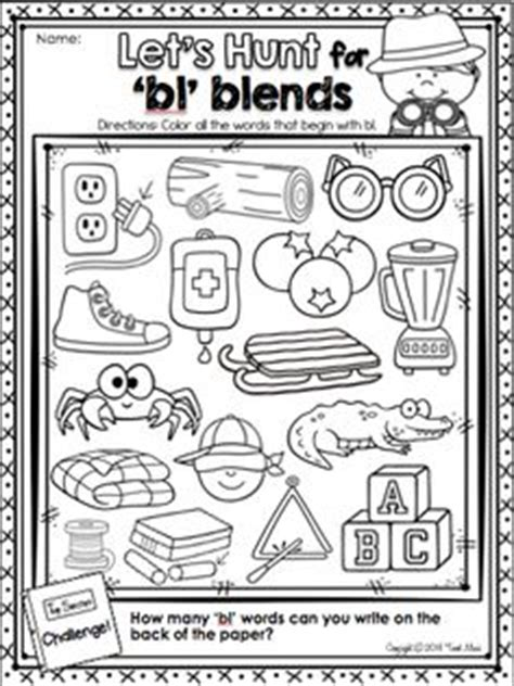 L Blends Coloring Pages by 1000 Ideas About Consonant Blends On Phonics