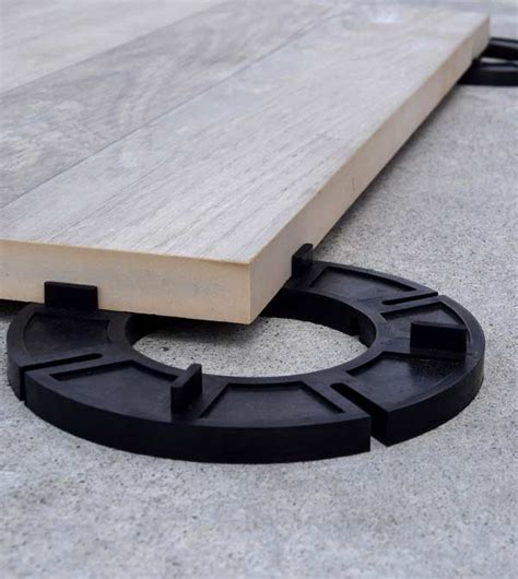 Support Pedestal Rubber Deck Support Pads For Laying Pavers Concrete