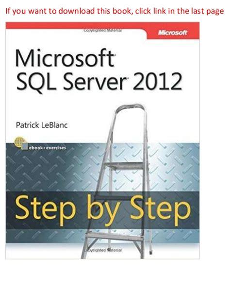 tableau tutorial step by step pdf microsoft sql server 2012 step by step step by step