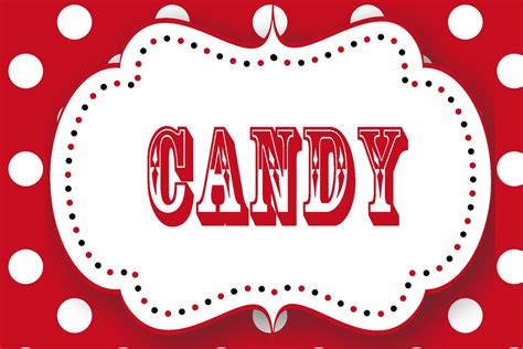 7 best images of free printable candy station labels