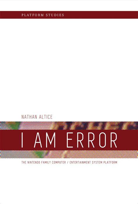i am books i am error the mit press