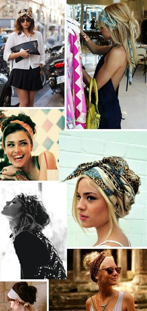 different ways to wear a bandana with short hair cute ways to wear a scarf in your hair hair accessories