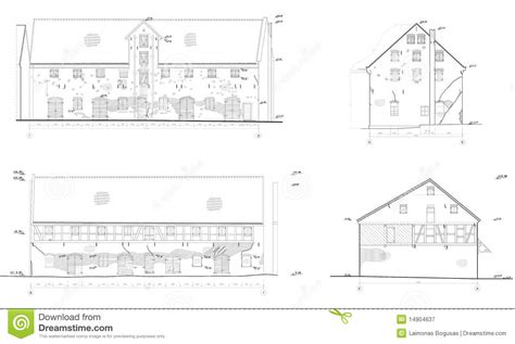 desenho de casas desenhos da casa velha fachadas fotografia de stock