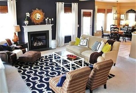 Living Room Navy Blue Carpet Navy Blue Living Room The Rug Gold Accents Bamboo