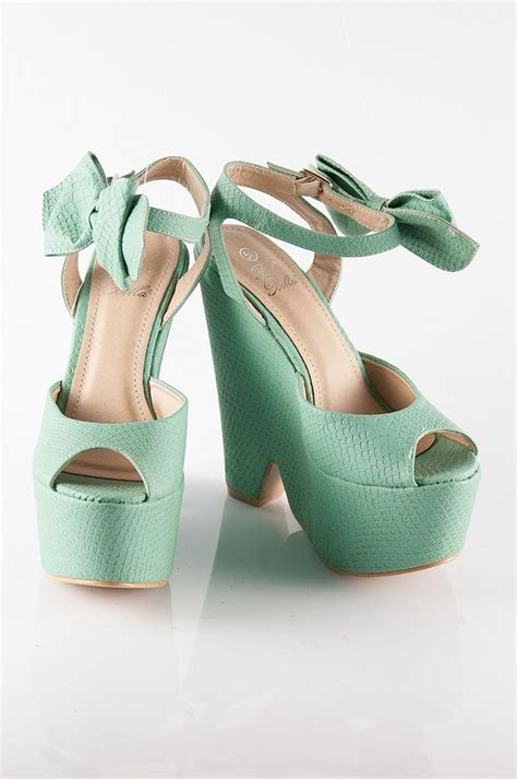 high platform wedge sandals teal aqua my favorite
