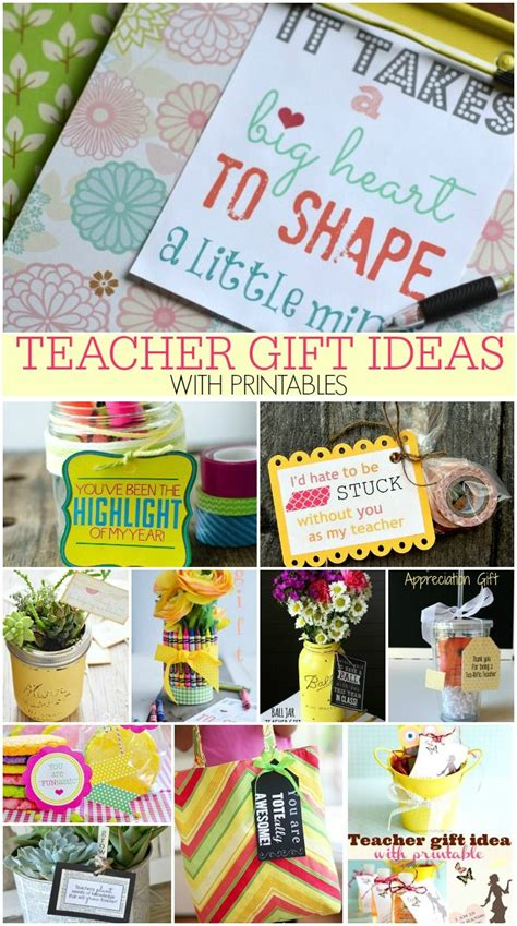 Handmade Gifts For Teachers From Students - gift ideas with printables