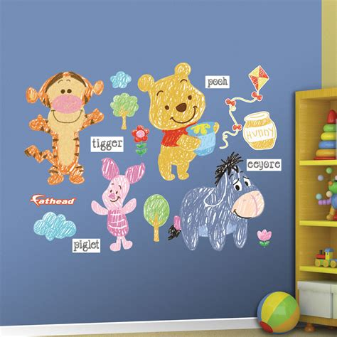winnie pooh wall stickers winnie the pooh sketch collection wall decal