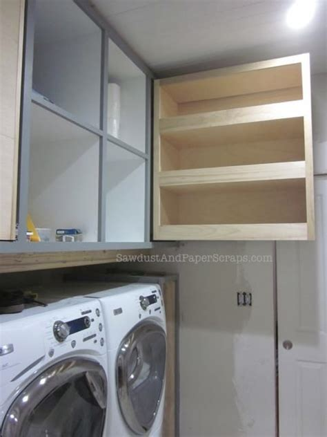 How To Build Laundry Room Cabinets How To Build And Install A Pull Out Pantry Style Storage Cabinet Sawdust 174