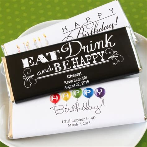 personalized birthday hershey s chocolate bars