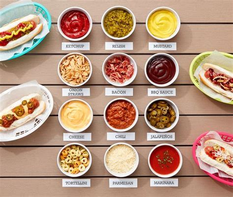 hot dog topping bar favorite movie night party ideas decor to adore