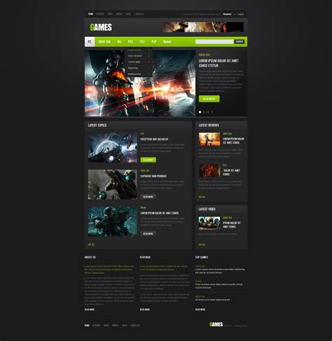 game website layout game portal website template 40172